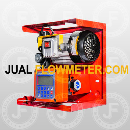 Transfer pump with flow meter digital